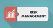 Leinwanddruck Bild - Risk Management Concept in Flat Design.