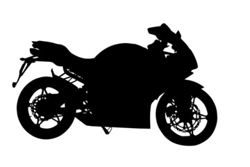 Side Profile of Motorbike Silhouette