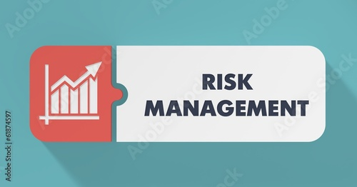 Leinwanddruck Bild Risk Management Concept in Flat Design.