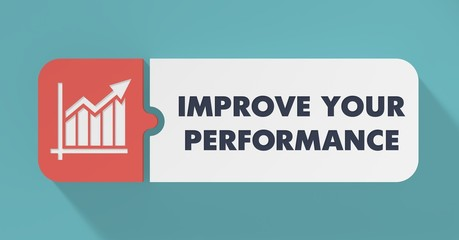 Improve Your Performance Concept in Flat Design.
