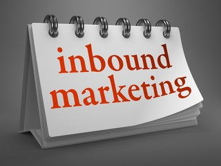 Inbound Marketing Concept on Desktop Calendar.