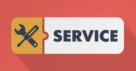 Service Concept in Flat Design.