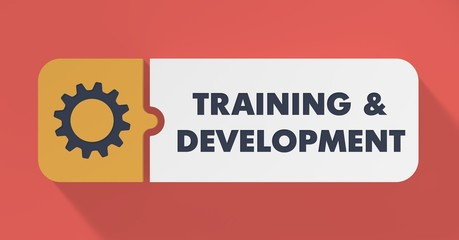 Training and Development Concept in Flat Design.