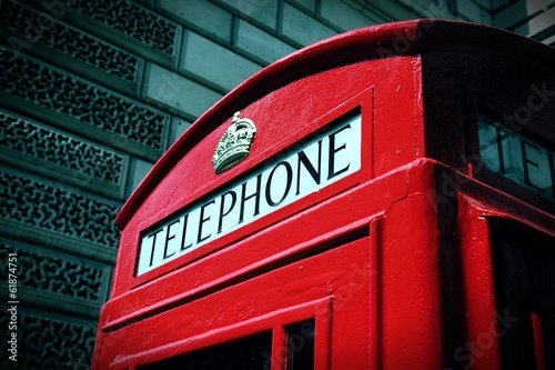 London telephone. Cross processed color tone.