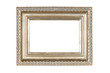 Silver-gold carved picture frame isolated with clipping path