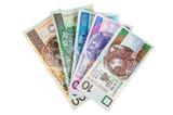 Set of polish banknotes