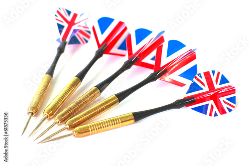Darts with British flag useful for British Themes