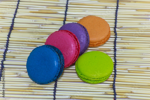Colorful assortment of tea biscuits