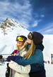 Two Beautiful woman at ski resort