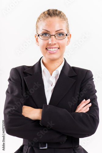 Portrait of businesswoman with arms crossed.