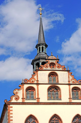 Baroque gable of benedictine nunnery in Fulda