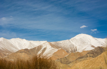 landscape of mountain in Leh