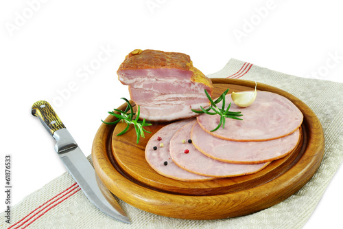 Smoked ham and meat