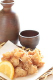 japanese food, chicken soft bone tempura Nakotsu