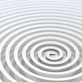 Abstract Bright White Spiral Background