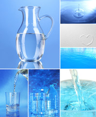 Collage of mineral water