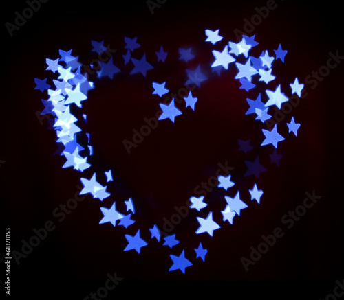 Bright heart bokeh background
