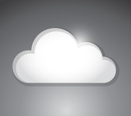 white cloud illustration design