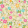 Butterfly Flower Seamless Pattern - Illustration