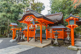 Small shrine at Fushimi Inari-taisah Complex in Kyoto