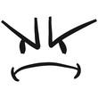 Böses Wütendes Gesicht