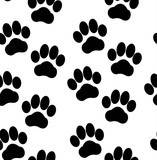 Dog tracks seamless pattern
