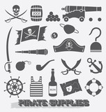 Vector Set: Pirate Supplies Icons and Symbols