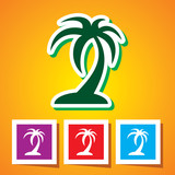 Icon of Palm Tree