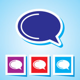 Editable Colourful Vector Icon of speech bubble Eps 10