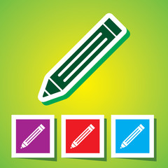 Editable Colourful Vector Icon of Pencil (Write). Eps-10.