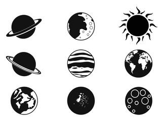 solar planet icons