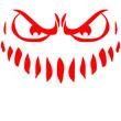 Böses Gefährliches Wütendes Monster Gesicht