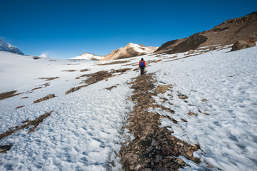 Trekking in Annapurna region, Himalayas of Nepal.