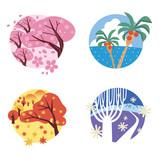 四季 風景 アイコン