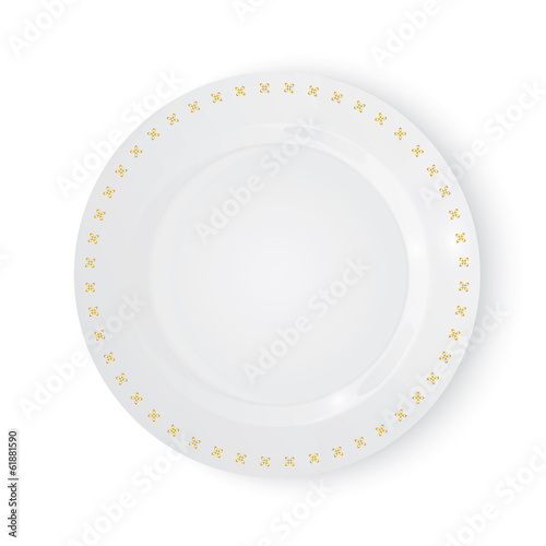 Vector plate - 61881590