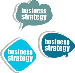 business strategy. Set of stickers, labels, tags. infographics