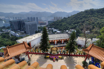 View of shatin from Ten Thousand Buddhas Monastery Pagoda
