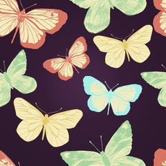 Seamless pattern with butterflies. Vector illustration/EPS 10