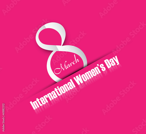 8 march women day card colorful background vector