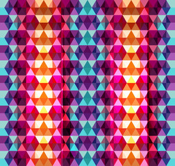 Seamless geometric colorful mosaic pattern texture background