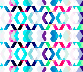 Seamless geometric pattern colorful creative texture design vect