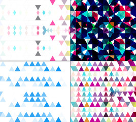 Seamless geometric colorful pattern set mosaic creative texture