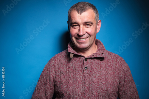 portrait of a happy old casual man