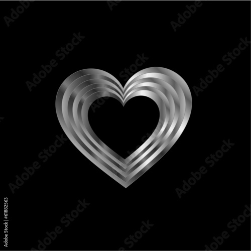 Silver heart shaped ornament