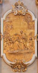 Vienna - relief of st. Francis Xavier in st. Annes church.
