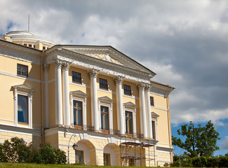 Russia.Palace in Pavlovsk,near St.Petersburg,at summer