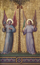 Vienna - Symbolic angels fresco  in Carmelites church