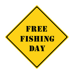 Free Fishing Day Sign