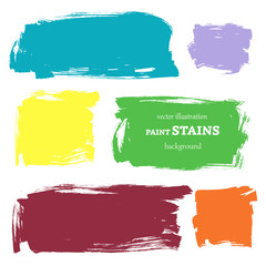Vector set of grunge paint stains. Vector illustration/ EPS 8