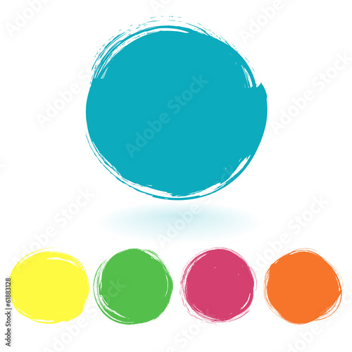 Vector set of grunge paint stains. Vector illustration/ EPS 10